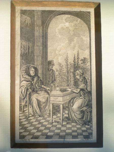 gravure glassharmonica Cecilia Davies comtesse de Brionne - collection Thomas Bloch